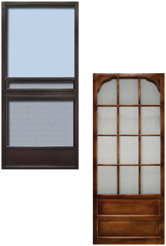 Custom Order Wood Screen Doors